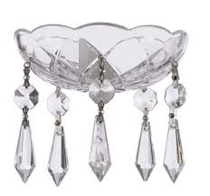asfour crystal 30 lead crystal bobeche lamp chandelier parts with silver bowtie