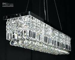 modern crystal chandelier with 6 lights contemporary rectangle