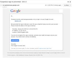 "Emails Google Site Sign-in Lead Phishing Fake ""suspicious To Prevented"""