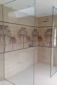 wall hung frameless glass shower enclosure