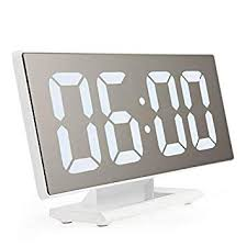 Alarm <b>Clocks</b> for Bedrooms - Digital Alarm <b>Clock LED Mirror Clock</b> ...