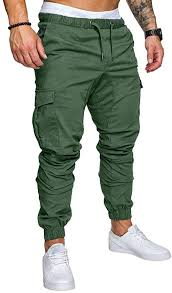ODlover <b>Men Casual</b> Solid Elastic <b>Drawstring</b> Waist Pocket Ankle ...