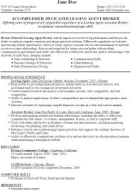 Apartment Leasing Agent Resume Examples Sample Leasing Agent Resume Apartment Leasing Consultant Resume