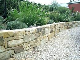 how much is a retaining wall stone retaining wall cost walls dry stack walling natural rock