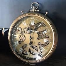 champ elysees moving gear wall clock