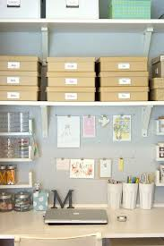 organize office space. Unclutterer: Daily Tips On How To Organize Your Home And Office. * I Like The Floating Shelves Over Desk, Might Be Great Storage Idea For Our Office Space