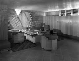 frank lloyd wriight interior art deco office