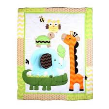 Jungle Theme Baby Quilt Patterns & Kid And Baby Quilt Patterns ... & Buy Baby Oodles Baby Quilt With Jungle Friends Theme Online | Best . Adamdwight.com