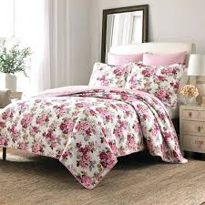 red fl quilt twin size pink rose set 2 piece reversible bedding turquoise jules