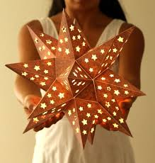how to make a paper star lantern it looks like metal