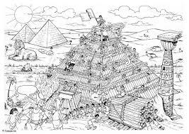 Kleurplaat Bouwen Van De Piramide Afb 5515 Images