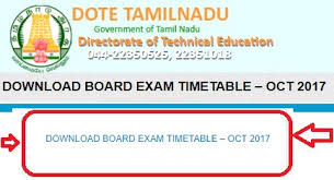 tndte polytechnic sem time table oct nov results tndte diploma exams 2017 time table