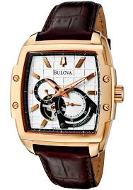 147 best images about bulova watches bulova watches loving this rose gold brown leather strap chronograph watch men on bulova watches