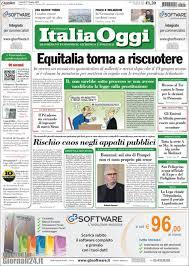 Newspaper Italia Oggi (Italy). Newspapers in Italy. Friday's edition, June  27 of 2014. Kiosko.net