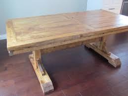 double pedestal farmhouse table