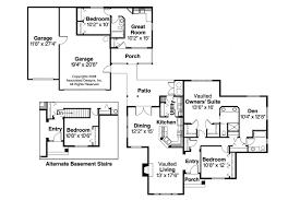 image of house plans with separate inlaw apartment