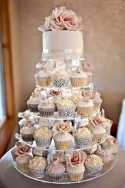 Wedding Cake And Cupcake Tower For A Beach Destination Wedding Cupcake Tiercupcake Wedding Cakesbeach