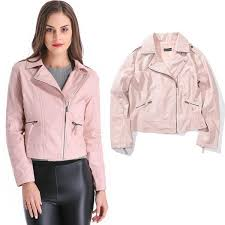 grandwish women pu leather jacket pink faux leather jackets size s 4xl womens leather er jacket jackets women from affairr 27 47 dhgate com