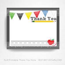Teacher Graduation Party Printable Digital Thank You Card You