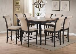 9 piece counter height dining set round dining table lazy susan round table with