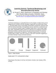 Activity Territorial Boundary Morphology And Learning