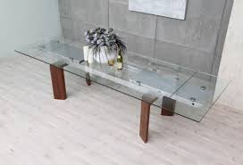 modern glass top extendable dining table contemporary grey
