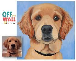 custom pet portrait pet portrait pet paintings gift ideas colorful dog paintings