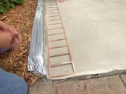 use stencil to get a brick border look at landing
