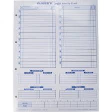Glovers Scorebooks Baseball Softball Dugout Line Up Charts