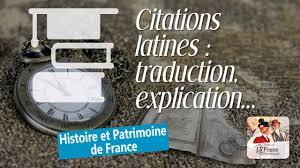 Citations Locutions Et Expressions Latines Utilisées Dans La Langue