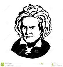 Ludwig Van Beethovenvector Portrait Of Mark Twain Stock Vector