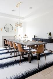 extra long dining room table leather school house chairs and brass chandelier emfurn com