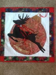 135 best reindeer quilts and crafts images on Pinterest ... & Christmas Wallhanging Flying Reindeer Ornament Another fun Christmas  Wallhanging. I used my largest pizza pan as the pattern for t. Adamdwight.com
