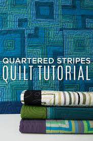 New Friday Tutorial: The Quartered Stripes Quilt &  Adamdwight.com