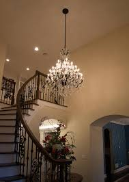 crystal chandelier in foyer