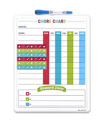 U Brands Contempo Magnetic Dry Erase Chore Chart 14 X 11 Inches White Frame 255u00 04