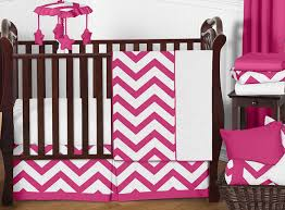 hot pink and white chevron zigzag baby bedding 11pc crib set by sweet jojo designs only 56 25