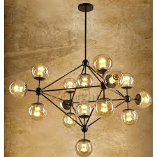 industrial chic lighting. Awesome Glass Ceiling Chandelier Unique 15 Light Hand Blown Industrial  Lighting Industrial Chic Lighting A