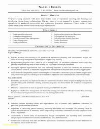 Assistant Property Manager Resume Unique Residential Property
