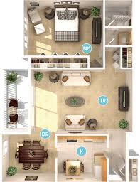 1 Bedroom / 1 Bathroom Apartment