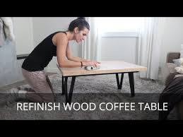 coffee table sanding stripping