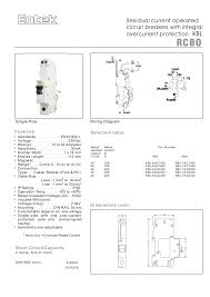 entek miniature circuit breakers mcbs and rcbos rcd mcb 2 residual current operated circuit breakers