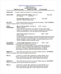 Chronological Resume Template Magnificent Chronological Resume Template Pdf Example Best Photo Gallery For