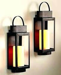 sconces modern wall sconce candle sconces black metal holder hanging rustic art holde
