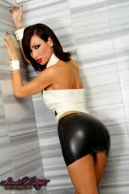 Sandee Looking Hot In A Tight Black Leather Skirt From Sandee Westgate 6 15