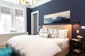 navy bedroom walls with beige nailhead headboard view full size