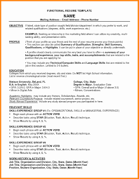 Functional Resume Objective Statement Examples Isipingo Secondary