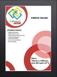 frameeazy plain photo picture frame 70cm x 100cm 27 55x39in black