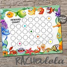 Undersea Ocean Animal Reward Chart For Kids Printable Chore