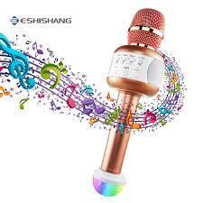 Profesyonel Kablosuz Karaoke Mikrofon Bluetooth Hoparlör Mikrofon El Mic  Parti KTV Şarkı Akıllı Telefonlar Için Destek Kategori Mikrofonlar